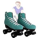 Unisex Tradicional Figura Skate Style Vegan Friendly Roller Skates- Botas De Rodillos Ideales para Niñas Y Mujeres Adecuadas para Uso En Interiores Y Exteriores,Verde,47