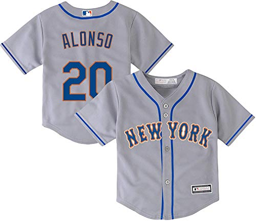 Pete Alonso New York Mets #20 Gray Kids 4-7 Cool Base Road Player Jersey (4)
