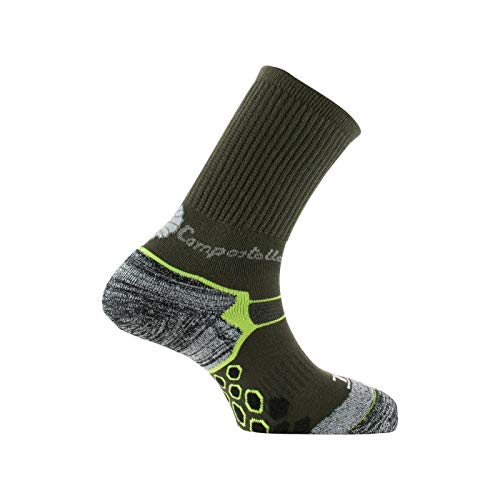 Thyo - Chaussettes Rando Chemin de Compostelle made in France - couleur - Anthracite vert - Pointure - 41-43