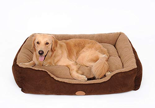 Rechteckiges Haustierbett Hundebett Superweiches Haustier-Schlafsofa Katzenbett, rutschfeste Liege für Haustiere, selbstwärmendes und atmungsaktives Haustierbett Hochwertige Bettwäsche-75 * 62 * 18cm