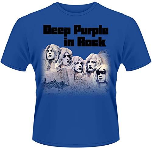 Men's Deep Purple in Rock T Shirt,T-Shirts à Manches Courtes(Medium)