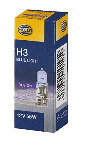 Hella 8GH 002 090-371 Glühlampe - H3 - 12V/55W - PK 22 s - Blue Light