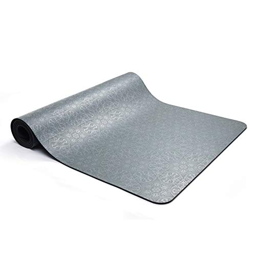 Lifqiangme gymnastiekmat yogamat + riem • 100% milieuvriendelijk materiaal • antislip • extra lang en breed • 183 x 61 cm • natuurlijk rubber • gemakkelijk te vijlen