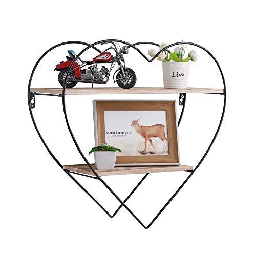 PENGKE 3-Tier Rustic Floating Wall Shelves – Industrial Modern Farmhouse Shelving for Bedroom, Kitchen, Living Room, Bath Decor, Display & Storage