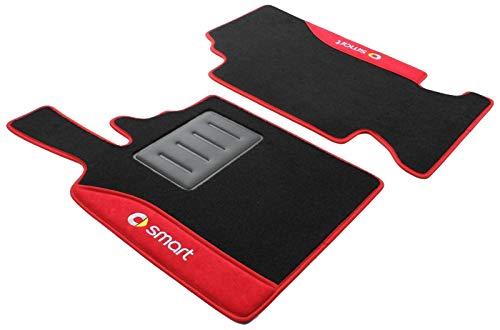 ilTappetoAuto COLOR0000021R, Auto Fußmatten, Anti-Rutsch-Teppich, rot