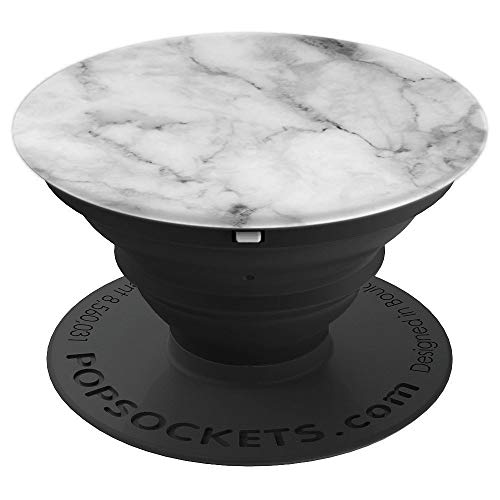 Minimalist Simplicity Lover White & Grey Men Women Kids Gift PopSockets Grip and Stand for Phones and Tablets