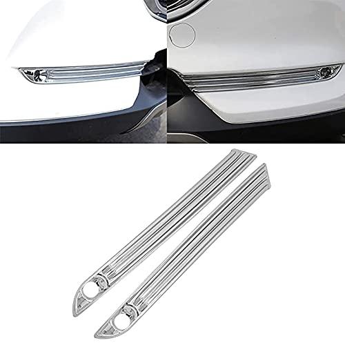 SUKLIER Abs Chrome Front Trim Lampe Rahmenkappe,Nebelscheinwerfer Blende Abdeckung ,FüR Mazda CX-5 2017-2019,Shiny Silver