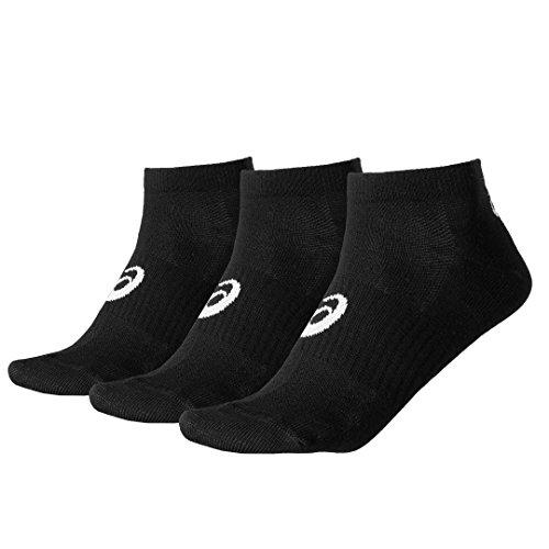 Asics 3PPK Ped Sock  128066-0900; Unisex sportsokken; Schwarz; 35-38 EU ( UK)