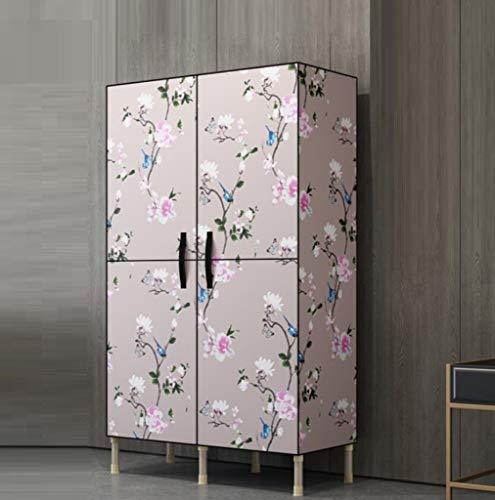 AYUANCHUN Eenvoudige garderobe - Staal ingelijste kast, stalen buis is versterkt, Monteer de deur om de opbergkast te openen, Wardrobe Storage Organizer,68.9inx 34.3inx 17.7in