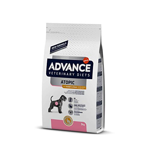 ADVANCE Veterinary Diets Atopic - Cibo per Cani Adulti di Razza Media con Pelle Atopica con Coniglio - 3kg