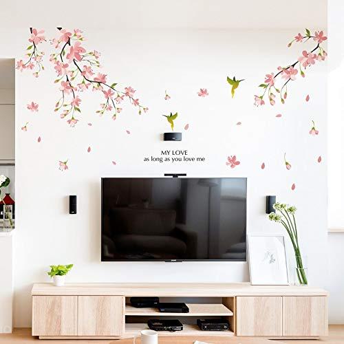 Wandsticker Tapeten Tapeten Dekorative Wand Co Wohnzimmer Fernseher Sofa-Hintergrund-Wand-Papier-Tapeten-Wand-Aufkleber im chinesischen Stil Warm Schlafzimmer-Wand-Aufkleber Selbstklebende Raumdekorat