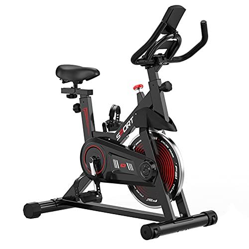 Spinning Bike Bicicleta De Ejercicio con IPAP Soporte, Bicicleta Fija Interior con Resistencia Ajustable, Equipo De Ejercicio De Cardio De Gimnasio En Casa