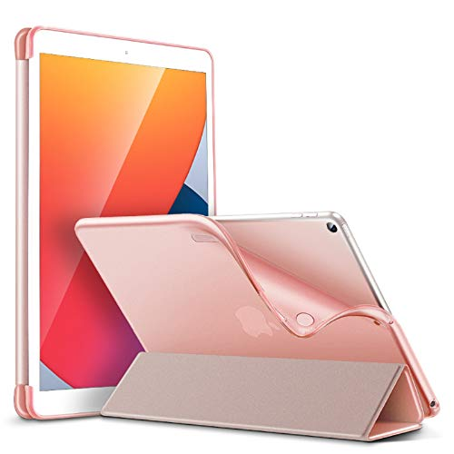 ESR Slim Case for iPad 8th Gen (2020)/7th Gen (2019) [Auto Sleep/Wake Cover] [Flexible Back with Viewing/Typing Stand] Rebound Series – Rose Gold