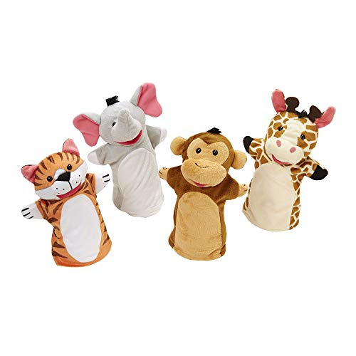 Melissa & Doug Zoo Friends Hand Puppets | Puppets & Theaters | Soft Toy | 2+ | Gift for Boy or Girl