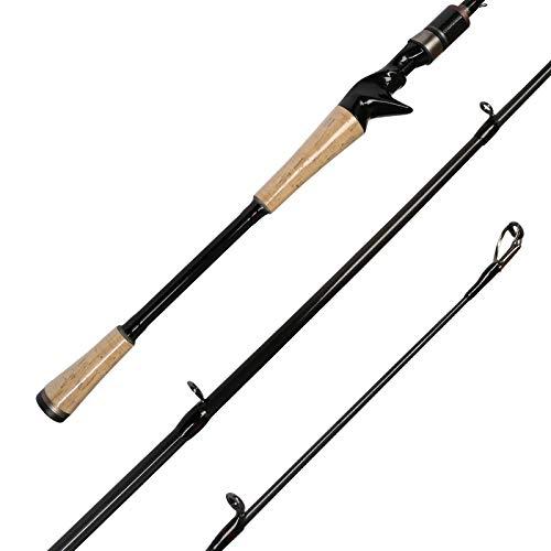 Fiblink Graphite Baitcasting Rod Portable Casting Rod 2-Piece Baitcaster