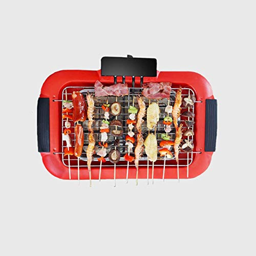 41v3p MQfbL. SL500  - SKREOJF Rauch Weniger Infrarot-Grill, Indoor Grill, Heizung Elektrotischgrill, Non Stick leicht zu reinigen BBQ Grill
