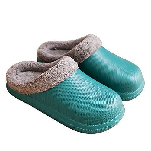 Zapatillas de Invierno para Mujer Antideslizantes Impermeables Zapatillas de Interior y Exterior Zapatillas de casa Zapatos de jardín Zapatos de Mujer Zapatillas cálidas de algodón para el hogar