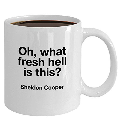 N\A Taza de Big Bang Regalo para Amigo Compañero de Trabajo Teoría de Big Bang Fan Calcetín de cumpleaños Qué Infierno es Esta Cita de Sheldon Cooper Regalo Divertido de animar