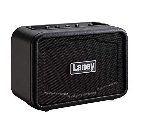 Laney MINI-ST Series - Stereo Battery Powered Guitar Amplifier with Smartphone Interface - 6W -Ironheart Edition, Negro