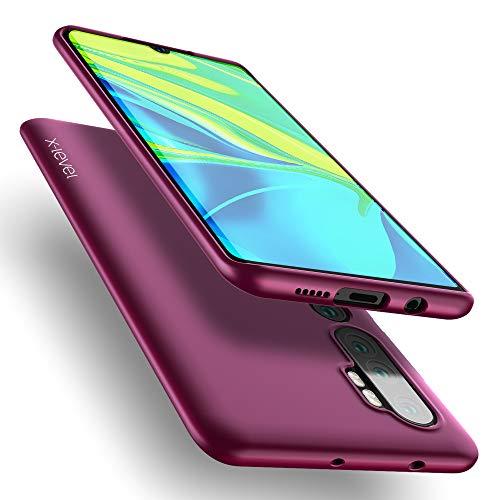 X-level Funda Xiaomi Mi Note 10, [Guardian Series] Suave TPU Gel Silicona Ultra Fina Anti-Arañazos y Protección a Bordes Phone Case Funda Carcasa para Xiaomi Mi Note 10 - Vino Rojo