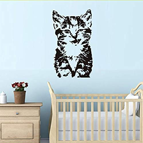 Home Muursticker Kitten Kat Vinyl Muursticker Verwijderbare Lijm Woonkamer Muurstickers Home Decor Kids Room Stickers