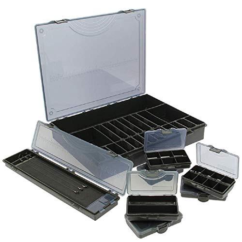 G8DS® Tacklebox + 6 kleine Bit Boxen und Rig Board Aufbewahrung Zubehör Angeln Karpfen Kleinteile