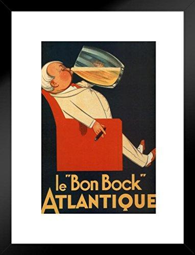 Poster Foundry Le Bon Bock Atlantique Vintage French Beer Liquor Mug Advertisement Matted Framed Wall Art Print 20x26