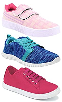 Shoefly Women's (9031-5004-1162) Multicolor Casual Sports Running Shoes (Set of 3 Pair)