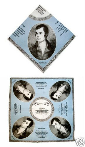 Bullech and Cowell Scottish Napkins with Burns Portrait and Poems
