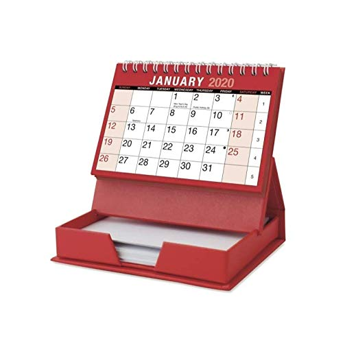 2020 Desktop Month to View Calendar Tear Off and Memo Note P