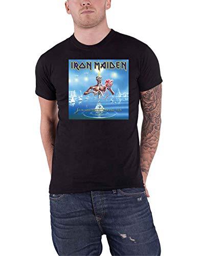 Iron Maiden T Shirt Seventh Son Cover Box Band Logo Nue offiziell Herren