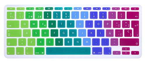 MMDW QWERTY - Funda de teclado ISO para MacBook de 11' 11,6 pulgadas A1465 A1370 Europeo/ISO funda de silicona para teclado