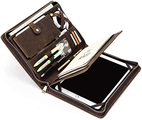 Business Portfolio Leather Hiram Vintage Leather padfolio case pouch For iPad Pro 10 5 Air 3 product image