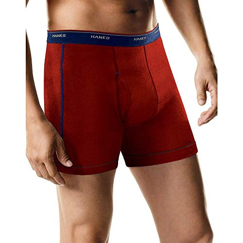 Hanes byHanes Men's 5-Pack Sports-Inspired FreshIQ Boxer Brief (Ultimate & Sport, X-Large)