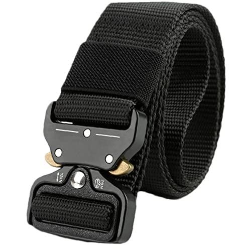 Froiny Cinturón Táctico 1pc Hombres, Cinturones Cintura con Hebilla Metálica Liberación Rápida Servicio Pesado para Deportes Aire Libre