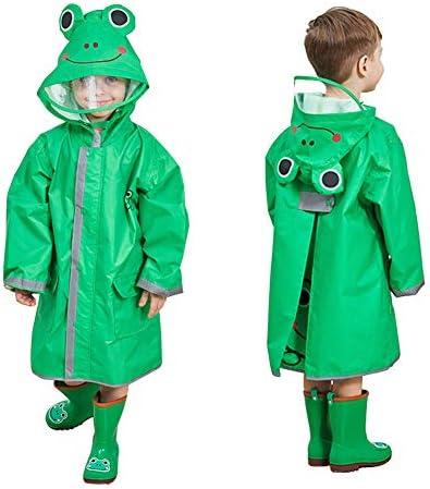 Kids Rain Coat with Hood 3D Cartoon Unisex Children Rainwear Poncho with Storage Bag Hooded product image