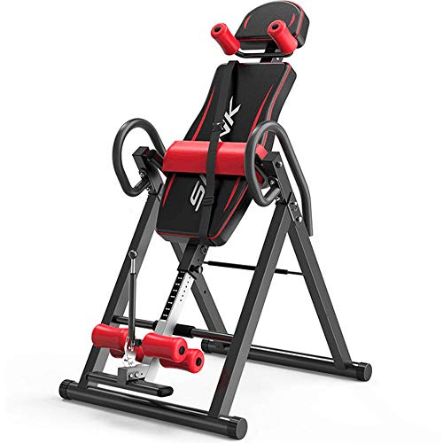 Yonntech Gravity Heavy Duty Inversion Table with Adjustable Headrest & Protective Belt,Fitness Massage Back Stretcher Machine for Pain Relief Therapy