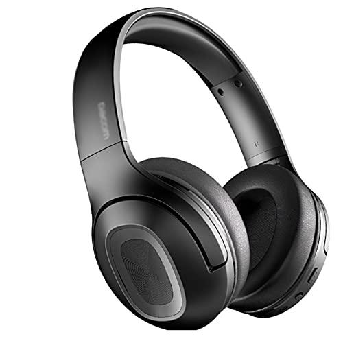 ZRL Cascos Gaming Auriculares Bluetooth inalámbricos sobre Auriculares para la Oreja V5.0 con micrófono Plegable y liviano para celulares portátil (Rojo/Negro) Headset (Color : Black)
