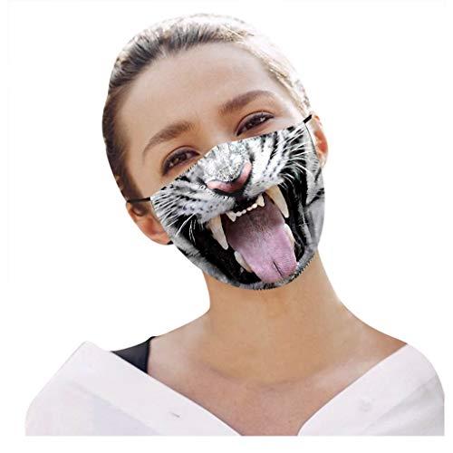 1/3/5/6 Stücke Schön Lustige Muster Tier 3D Bedruckt Mund Nasenschutz Mundschutz...