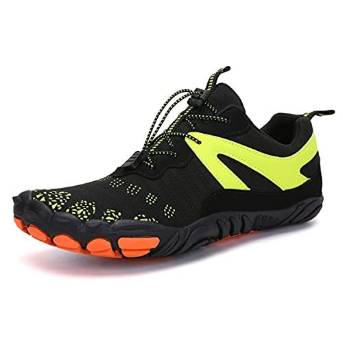 [ローローLuoLuo] マリンシューズ ウォーターシューズ フィットネスシューズ レディース ベアフット 超軽量 通気性 沢登り 磯靴 釣り 靴 滑り止め トレイルランニング アウトドアシューズ ジム 室内 運動靴 ブラック 23.0