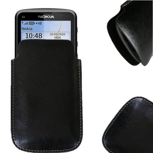 Nürnberger First Electronics NFE Etui offen Lederetui Tasche Holster Handy Hülle Nokia C3-01 Touch