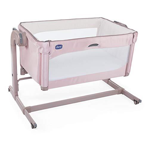 side-sleeping crib next 2 me magic - candy pink 0m+