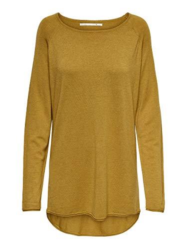 ONLY Damen ONLMILA LACY L/S Long KNT NOOS Pullover, Mehrfarbig (Chai Tea Detail: W. Melange), Large