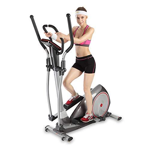 Ellipsen Crosstrainer 8-Gang-Magnetregelwiderstandseinstellung, 7 Kg Inneres Doppelmagnetrad, Hand-Herzfrequenzsensor Mit LCD-Anzeige Zeit, Geschwindigkeit, Entfernung, Kalorien,3 in 1 Ellipsentrainer