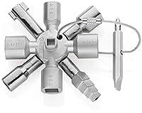 10 Profile. 2 Kreuze. 1 Schlüssel. Alle gängigen Schließsysteme. Multifunktionaler Schlüssel für Betätigung von Schließungen aus den Bereichen Gebäudetechnik (Heizung und Sanitär, Klima- und Belüftungstechnik, Elektrotechnik), Gas- und Wasserversorgu...