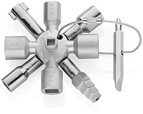 KNIPEX TwinKey Schaltschrankschlüssel für gängige Schränke und Absperrsysteme (95 mm) 00 11 01