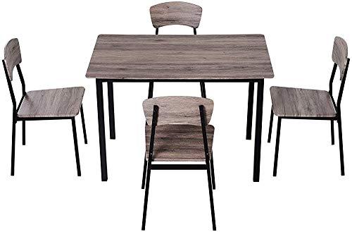 Se hizo una mesa alta mostrador y cuatro sillas a juego de comedor mesas y sillas, mesa de comedor paquete compacto,Brown black stripes