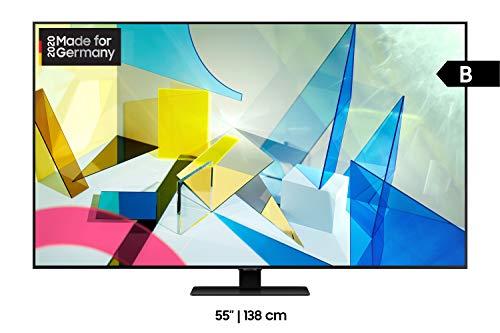 Samsung QLED 4K Q80T 55 Zoll (GQ55Q80TGTXZG) Quantum Prozessor 4K, Direct Full Array, Quantum HDR 1500