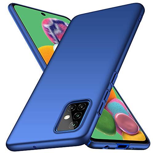 ORNARTO Funda Samsung A51, Carcasa [Ultra-Delgado] [Ligera] Mate Anti-arañazos y Antideslizante Protectora Sedoso Caso para Samsung Galaxy A51(2020) 6,5 Pulgadas Azul