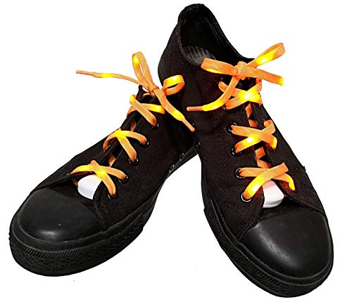 Lilware Dare to to Be Visible Shoelaces Schnürsenkel Mit LED Blinklicht Licht. Farbe: Orange